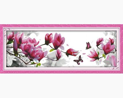 ide_H269 набор для вышивания Вышивка крестиком Идейка Розовые магнолии (H269) Идейка