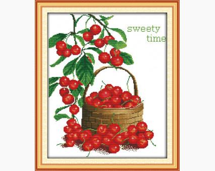 ide_J043 набор для вышивания Картина вышивка крестом Идейка Сладкие ягоды (J043) Идейка