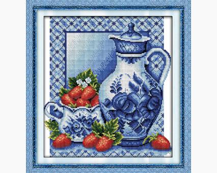 ide_J045 набор для вышивания Вышивка крестом Идейка Натюрморт с клубникой (J045) Идейка
