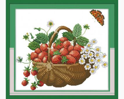 ide_J048 набор для вышивания Вышивание крестиком Идейка Корзина с ягодами (J048) Идейка