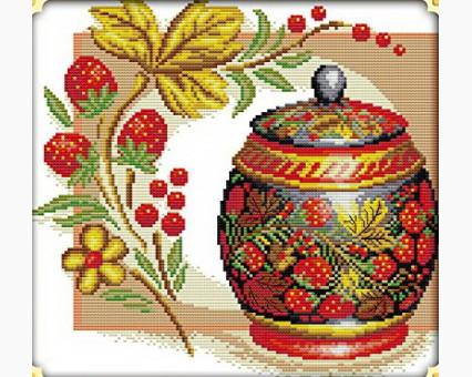 ide_J111 набор для вышивания Набор для вышивания Идейка Медовая клубника (J111) Идейка