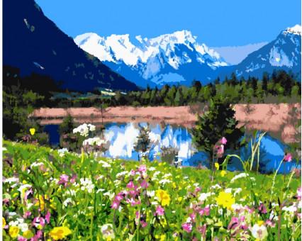 BK-GX7809 картина по номерам Альпийские луга Brushme