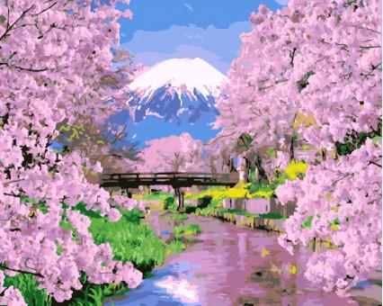 BK-GX9506 Картина раскраска Цветущая сакура