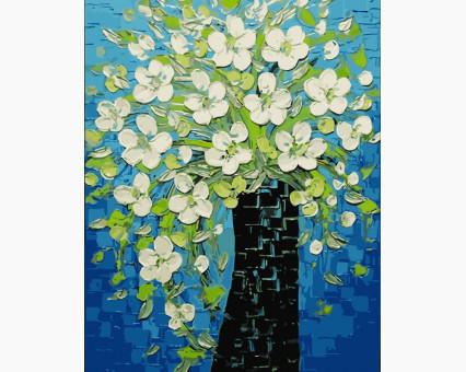 Купить BRM9174 Картину раскраска Ваза с весенними цветами