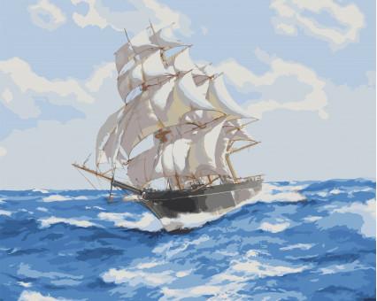 KH2723 картина по номерам Ветер свободы Идейка