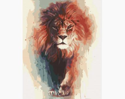 KH4017 картина по номерам Король саванны Идейка