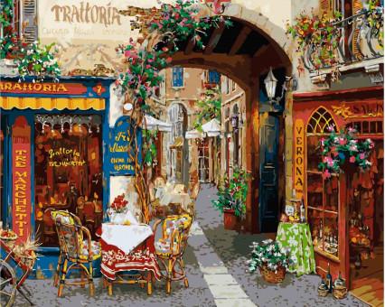 KHO2173 Картина раскраска без коробки Волшебный переулок Идейка