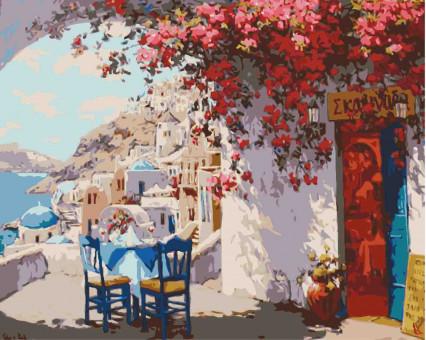KHO2180 Картина раскраска без коробки Греческий полдень Идейка