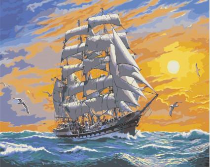 KHO2722 Картина раскраска без коробки Хозяин морей Идейка