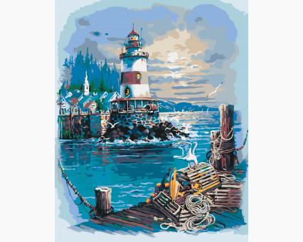 KHO2724 картина по номерам Тихая гавань Идейка