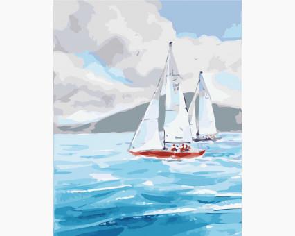 KHO2726 картина по номерам Ласковое море Идейка