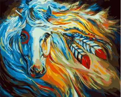 KHO4014 картина по номерам без коробки Непокорная Галия Идейка