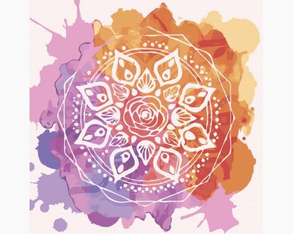 KHO5015 Картина раскраска без коробки Мандала любви Идейка