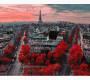 BRM4887 Картина раскраска Алые краски Парижа