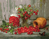 картина по номерам ягоды - фото