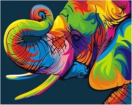 радужный слон купить раскраску