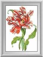 рисование камнями тюльпан