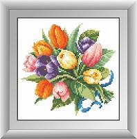 алмазная живопись букет тюльпанов