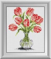 картина стразами тюльпаны