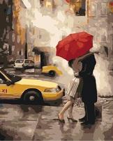 Картина раскраска Под зонтом счастья - фото