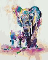 Картина по номерах слон - фото