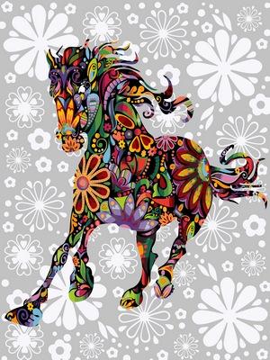 Картина по номерам лошадь