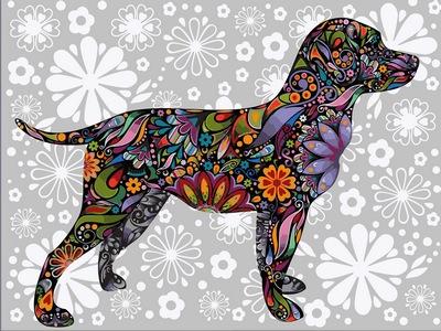 фото картины цветочный пес
