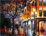 Картина осень на картине Афремова Леонида - фото