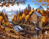 Картина осень в лесу художник Даэлин Марк