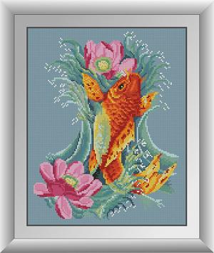 алмазная вышивка золотая рыбка - фото