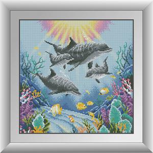 фото алмазной вышивки дельфины