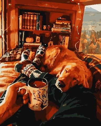 Картина по номерам собака ArtStory