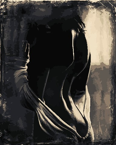 черно-белая картина по номерам артстори