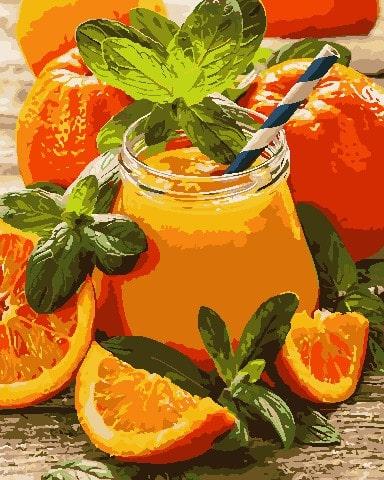 Картина по номерам ArtStory апельсин