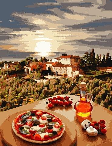 Картина по номерам Под солнцем Тосканы