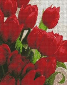 Идейка алмазная вышивка тюльпаны