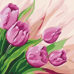 картины по номерам идейка цветы