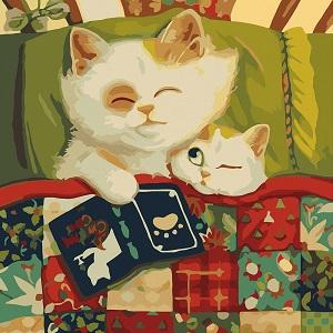 маленькая картина по номерам коты