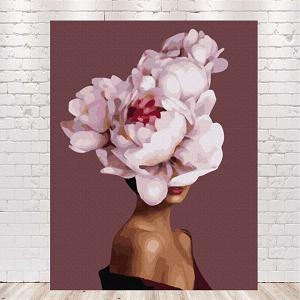 картины по номерам девушка с цветами на голове купить в Киеве