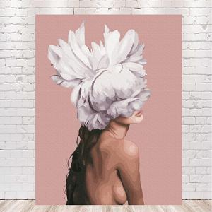 картины по номерам девушка с пионами на голове купить в Украине