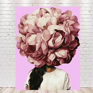 картина девушка с цветами на голове автор Эми Джадд