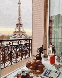 картины по номерам брашми Парижский балкон