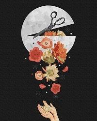 Картина по номерам Лунный арт BrushMe