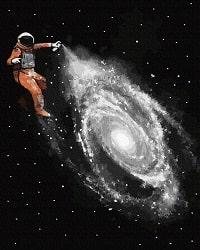 Картина по номерам Космический художник от ТМ Брашми