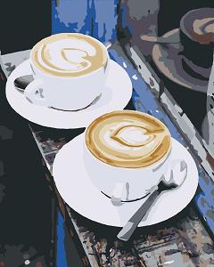 картина-раскраска кофе