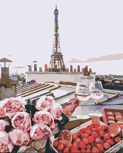картина по номерам Bambyno пейзаж Парижа
