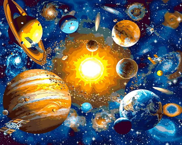 Mariposa Картина по номерам Солнечная система