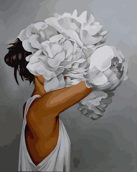 Картина по номерам Mariposa Женщина в пионах