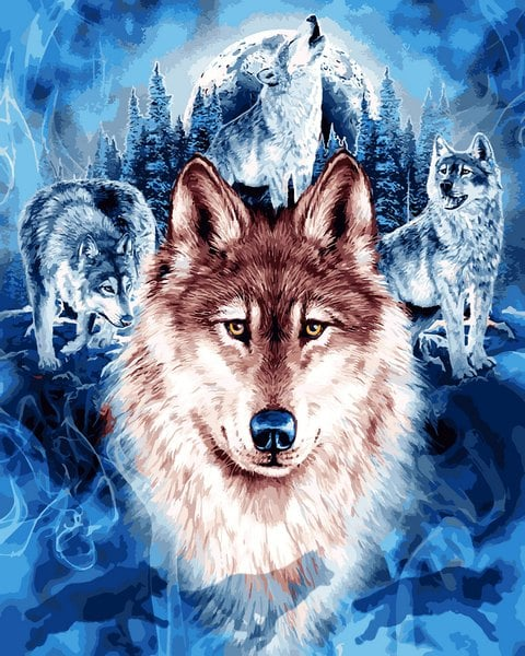 Mariposa - Картина по номерам Волки