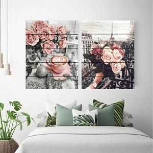 картины по номерам на дереве розы